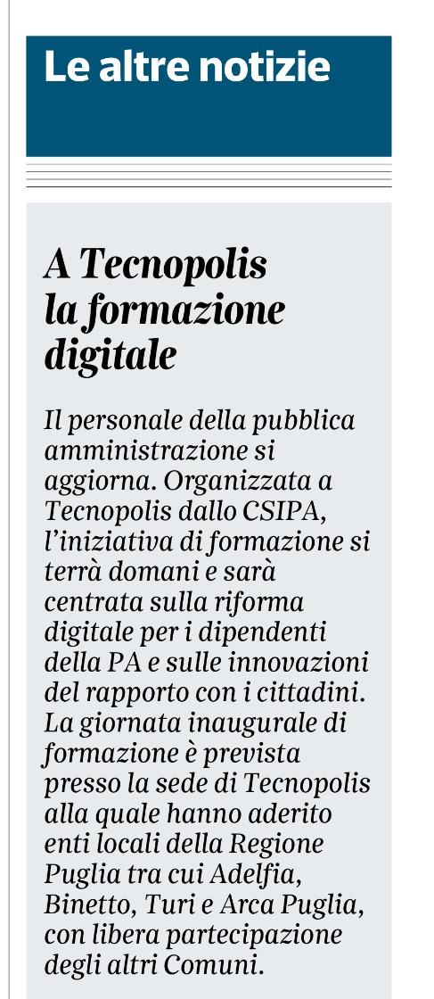 CSIPA - Giornata di studio sulla Riforma Digitale della Pubblica Amministrazione